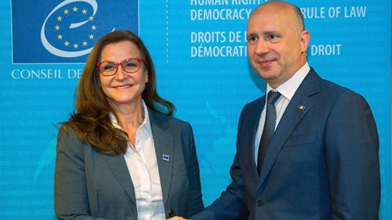 Moldovan PM, Council of Europe official discuss public administration reform in Strasbourg