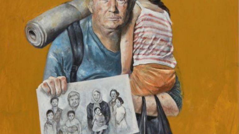 Artist paints Donald Trump and other leaders as refugees (PHOTO)