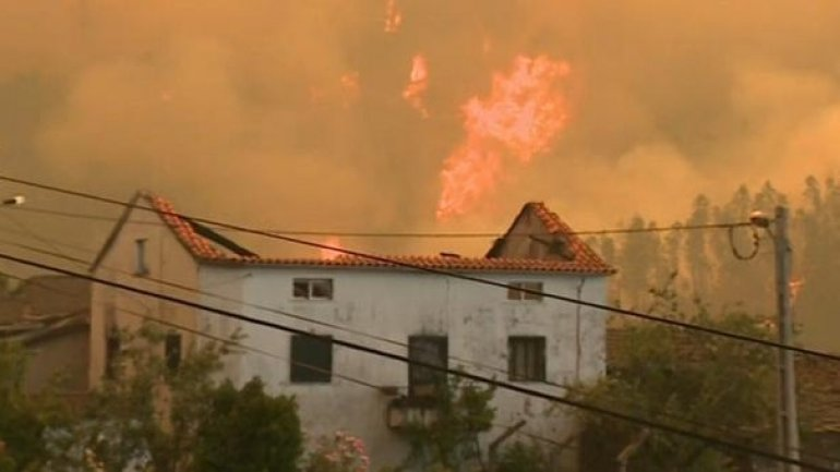 Operation against Portuguese wildfires enters FIFTH DAY (VIDEO)