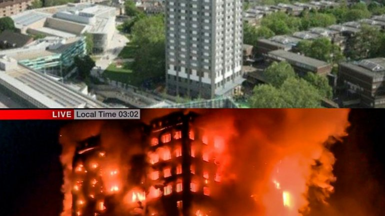 MASSIVE fire engulfs London tower block (PHOTO/VIDEO)