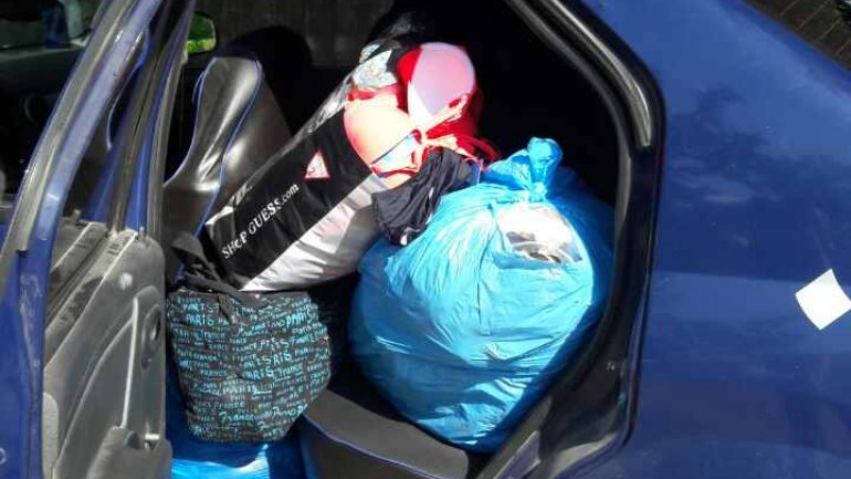 Clothing worth of 40 THOUSAND LEI identified and seized by Border Police (PHOTO)
