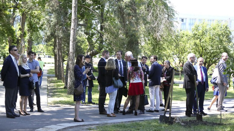 World Tourism Organization in Chisinau: Officials plant trees as portrayal of Moldovan tourism development (PHOTO)