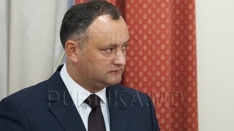 President Dodon, oblivious of which country he is president of. His statements infringe citizens' interests
