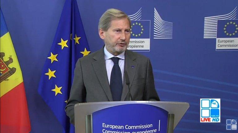 Johannes Hahn: Undertaken reforms bring Moldova closer to EU