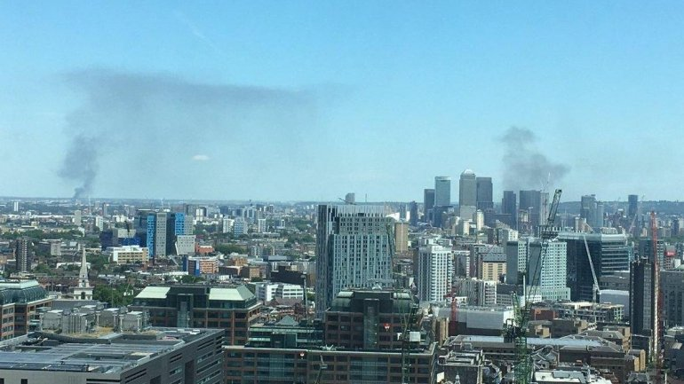 London fire: Smoke seen for miles as firefighters tackle flames