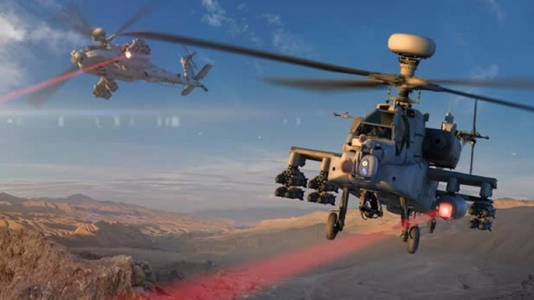 Laser gun on U.S. chopper successfully hits and destroys target