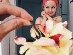 "Mom ""Dresses"" Her Daughter In Food And Flowers Using Forced Perspective, Becomes Internet Star (Photos)"