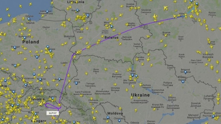 Plane of Russian MP Rogozin, BANNED from Romania's airspace