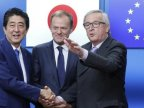 Japan and Europe are racing to agree a big free trade deal