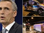 NATO Secretary General's convoy involved in car accident in Warsaw
