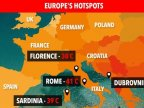 HEATWAVE FROM HELL - which European countries suffered most from 'Lucifer'