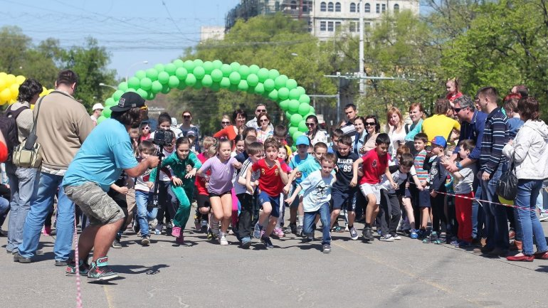 "Children to participate in a marathon on ""Kids Run Day"" in Chisinau"