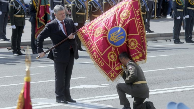 4,500 Ukrainian and 231 foreign soldiers parade on Independence day of Ukraine