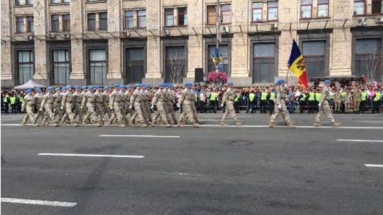 Moldovan National Army parade in Kiev on Independence Day of Ukraine (Photos)