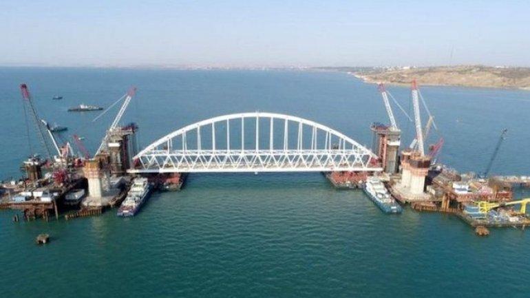 Russia's controversial Crimea bridge gets giant arch