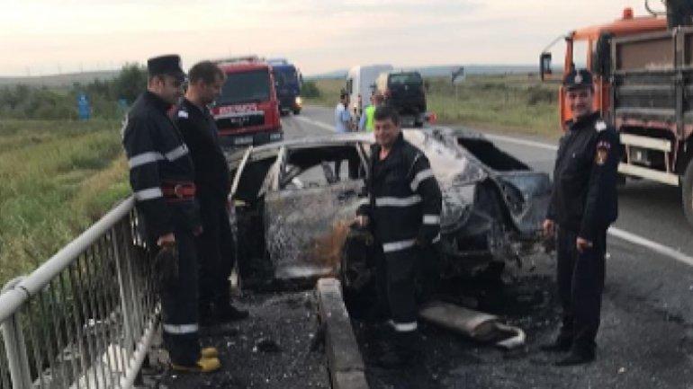 Moldovan's car got burnt after crash in Romania, exist victims