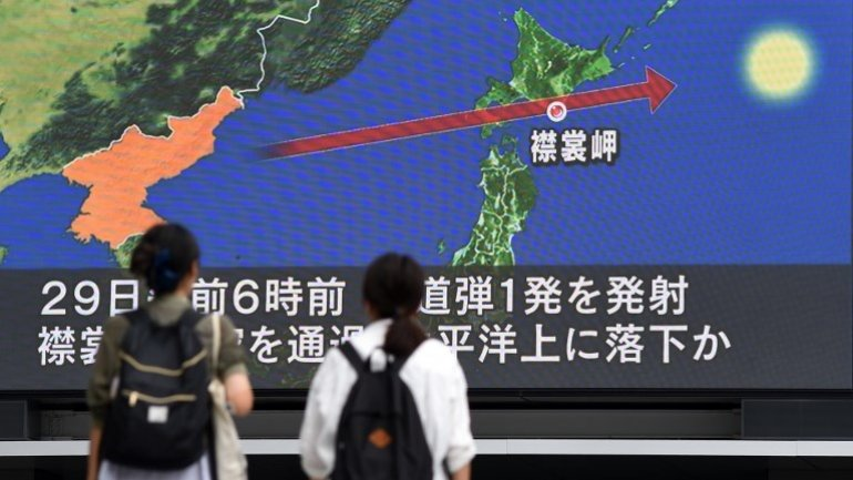 North Korea fires missile over Japan in 'unprecedented threat'