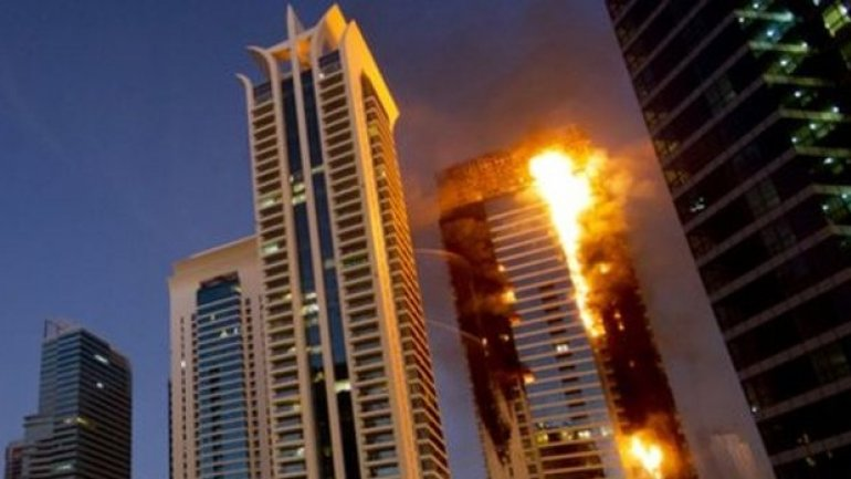 Another high-rise tower catches fire just days after major blaze nearby