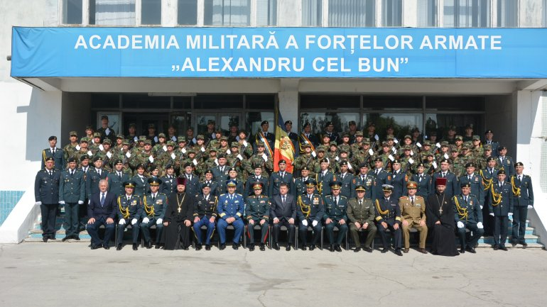 "55 Students took oath at Military Academy ""Alexandru cel Bun"""