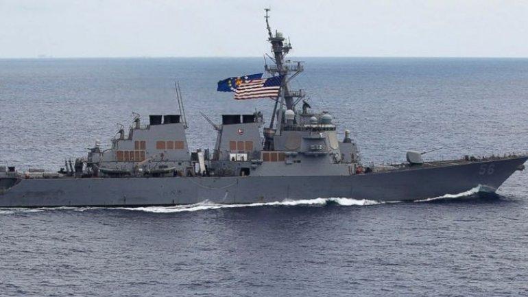 China protests US ship sailing by island in South China Sea