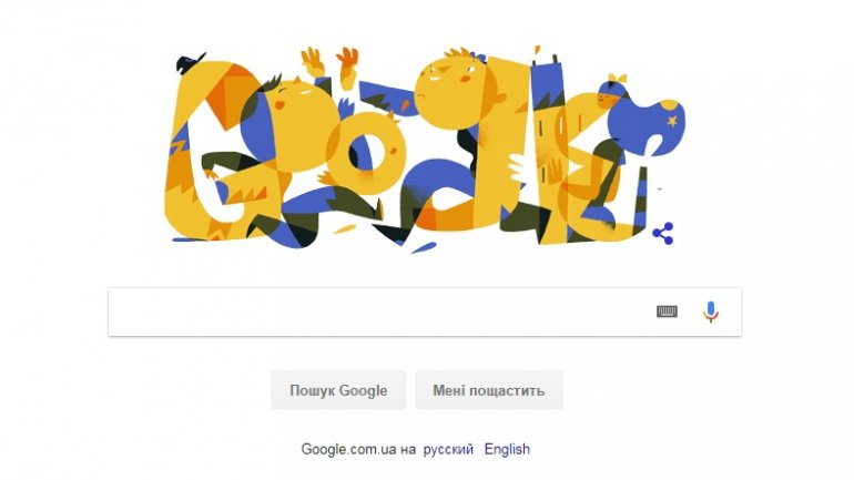 Google celebrates Ukraine Independence Day with colorful greetings