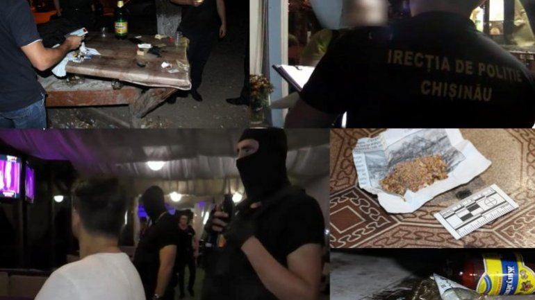 """Five men detained by """"Fulger"""" task force for drug possession and consumption in Chisinau"""