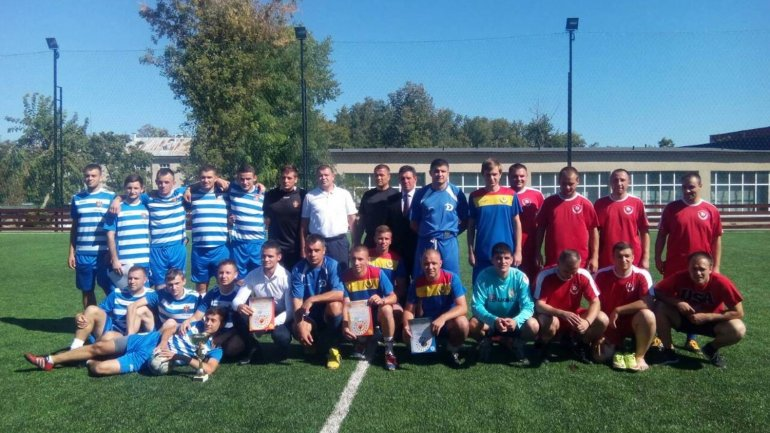 Central Criminal Police Department of Chisinau won second place in mini football championship