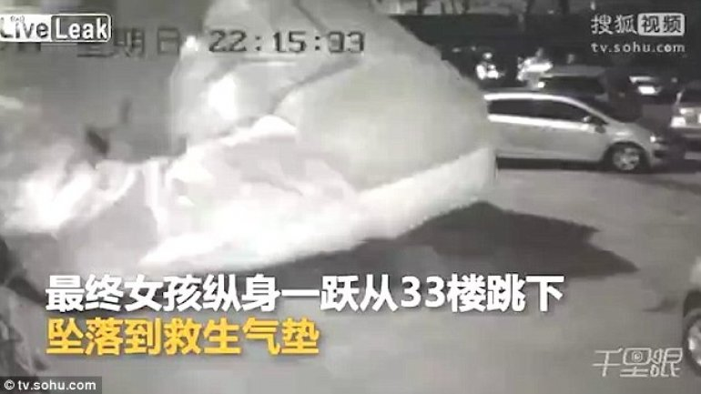 Chinese girl survives suicide jump from 33rd floor
