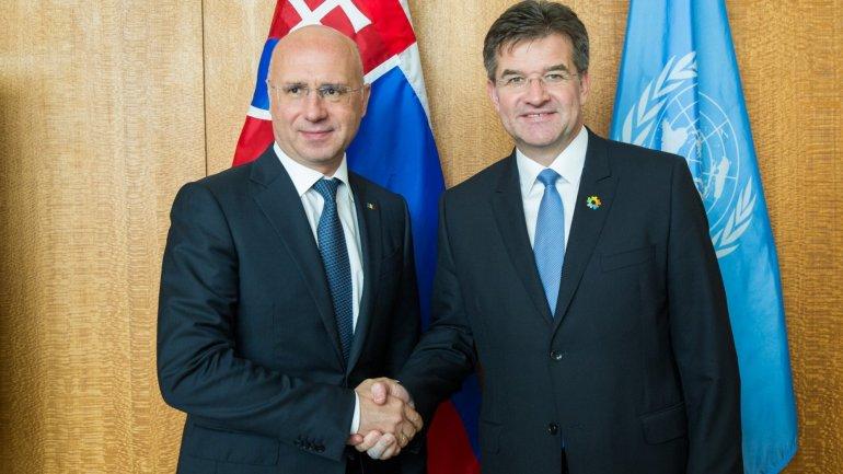 Pavel Filip met Miroslav Lajcak: Republic of Moldova fully supports you