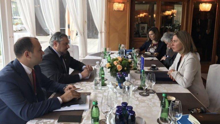 Andrei Galbur met Deputy President of European Union Federica Mogherini