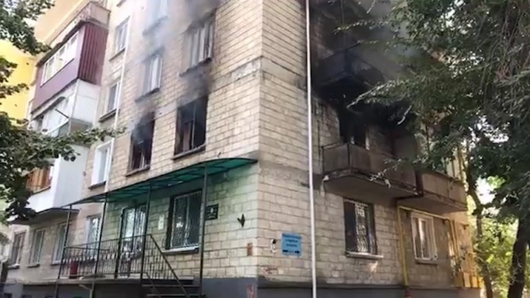Apartment filled to the brim with trash caused fire in Râșcani