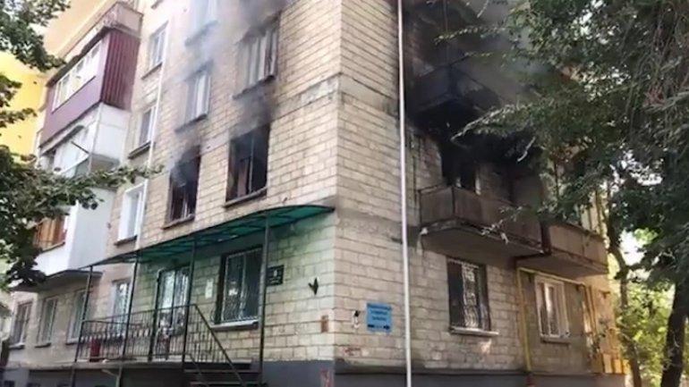 Apartment burst into flames in Chisinau (video) (update)