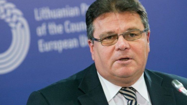 Minister of External Affairs from Lithuania Linas Linkevicius on official visit to Chisinau