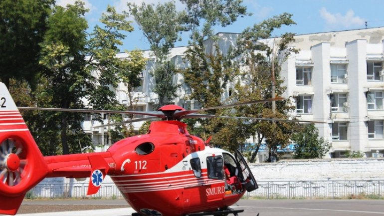 Motorcyclist seriously injured after accident at Briceni, transported by SMURD to Chisinau