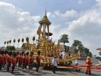 Thailand sets off royal cremation for former King Bhumibol Adulyadej (Photos)