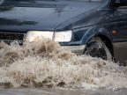Burst pipe flooded a street in Capital from early morning