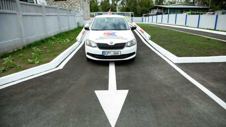 European conditions for driving license exam the future drivers. Another modern polygon in capital (Photo)