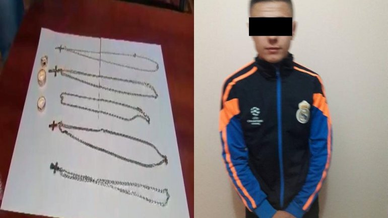 Teenager from Teleneşti arrested for stealing golden jewelry in Capital