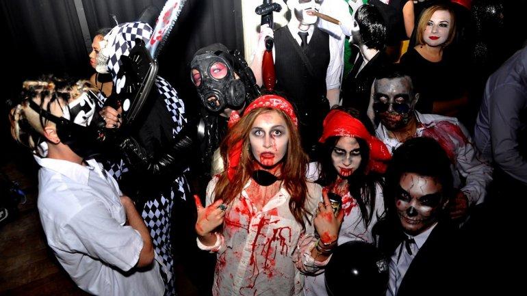 Capital filled with nightmarish creatures as Moldova celebrated Halloween