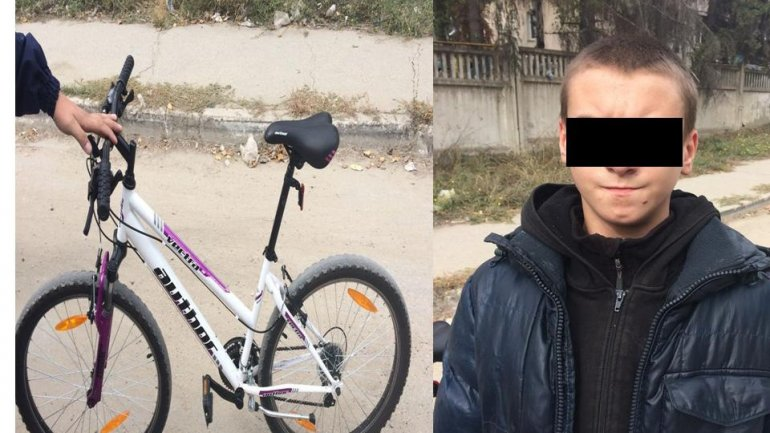 14-year-old caught for stealing a bicycle