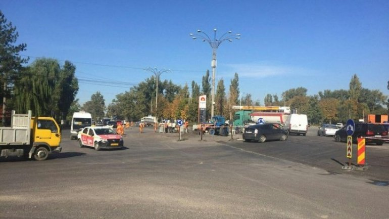 New roundabout arranged at intersection Uzinelor and Industrială