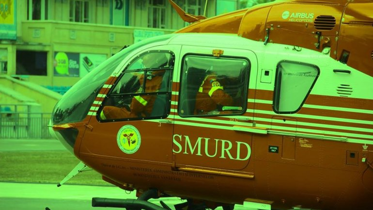 SMURD helicopter saved a life by transporting patient from Bălţi to Chişinău