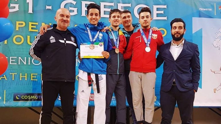 Four taekwondo fighters from Moldova were victorious in Greece Open G1 Tournament