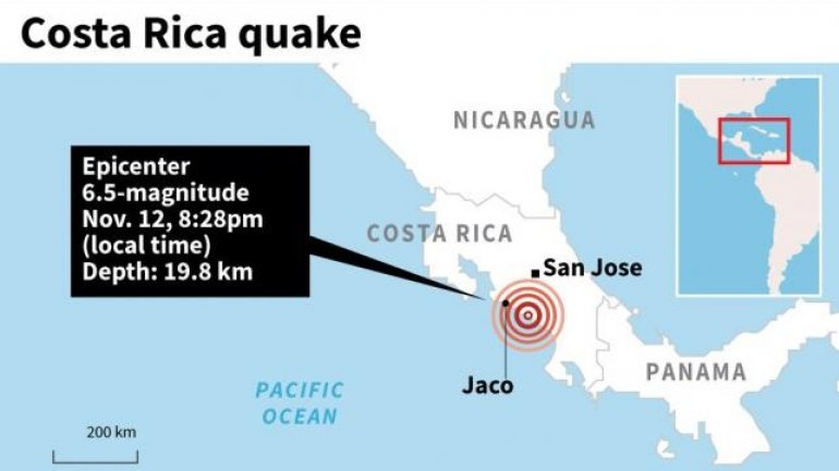 People frightened as 6.5 magnitude earthquake hits Costa Rica