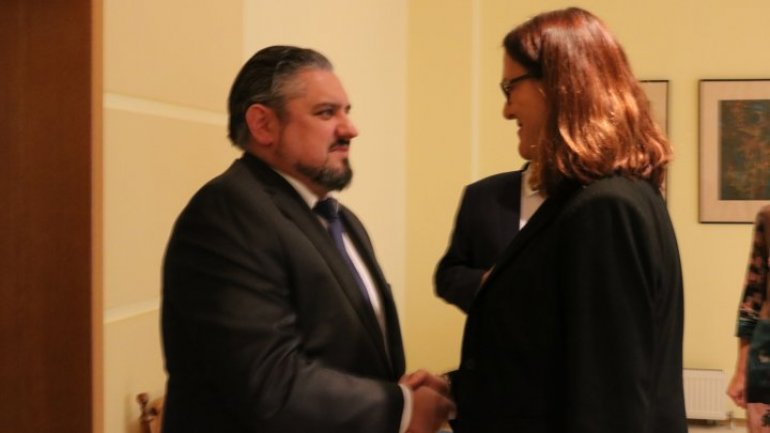 Deputy PM Andrei Galbur had meeting with EU Trade Commissioner Cecilia Malmstrom