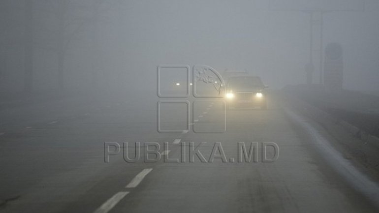 Fog with visibility of less than 200 meters in place across Moldova