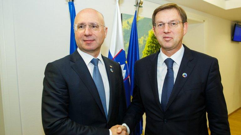 Prime Minister Pavel Filip met his Slovenian counterpart, Miroslav Cerar