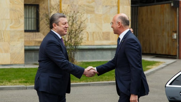 Prime Minister of Moldova, Pavel Filip had a meeting with his Georgian colleague, Giorgi Kvirikashvili