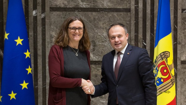 European Commissioner for Trade visiting Moldova. Official has already met with Andrian Candu