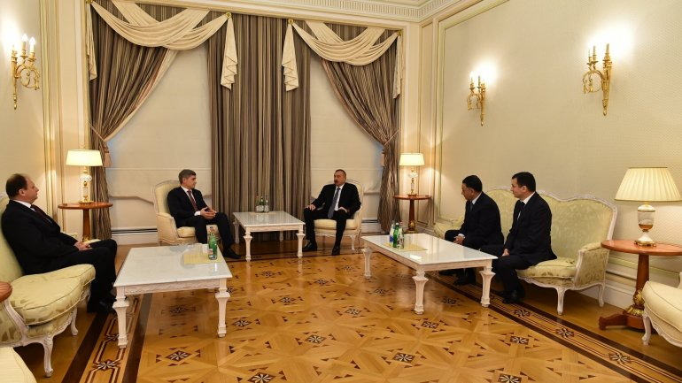 Minister of Internal Affairs Alexandru Jizdan met with President of Azerbaijan Ilham Aliyev